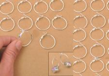 10 Pairs Earring Ear hoop Lever Back Open Loop DIY Earring Wire Findings 20mm