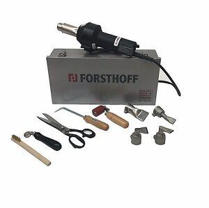 Forsthoff Oval Q Roofing Hot Air Welding Kit - 110v/120v Welder 11 Piece Kit