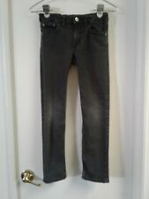 H&M Kids Black Skinny Stretch Kids Jeans Size Waist 26 inches Adjustable