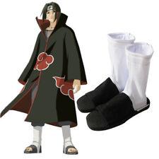 Naruto Shippuden Cosplay Akatsuki Shoes Akatsuki Itachi White Konoha Ninja Boots
