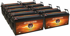 QTY10 VMAX 12V SLR200 SOLAR WIND BACKUP AGM BATTERY DEEP CYCLE 2000AH @12V