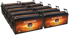 QTY10 VMAX 12V SLR200 SOLAR WIND BACKUP AGM BATTERY DEEP CYCLE 2000AH @12V