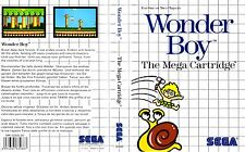 Wonder Boy Sega Master System Replacement Box Art Case Insert Cover Scan