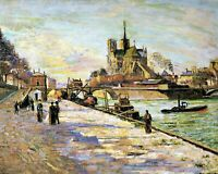 Notre Dame de Paris by Armand Guillaumin. Building  11x14 Print