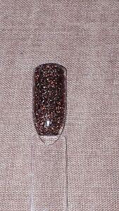 NSI Brown Halographic Glitter Pre-Mixed Acrylic Powder Nail Art 7 gram Pot #78