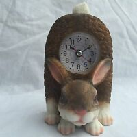 FATHER'S DAY SALE Critter Clock Bunny Rabbit Kitchen Tabletop Wagging Tail Hare