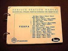 Original Partial Vespa Service Manual 50,90,125,150,180 & 200 Models
