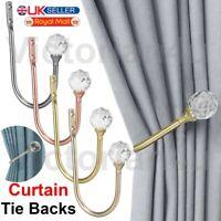 Metal Crystal Curtain Holdback Wall Tie Backs Hook Hanger Holder Home Decor UK