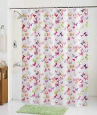 "Jamboree Butterflies Peva Shower Curtain 70"" x 71"" Multicolor Mainstays"