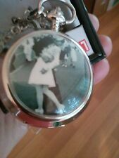 VICTORY TIMES SQUARE 1945 POCKET WATCH NIB LIFE, NICEST ON EBAY IN LAST 60 DAYS