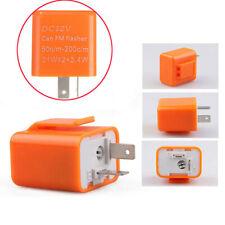 12V 2 Pin Motorcycle Blinker Adjustable LED Flasher Relay Turn Signal Indicator