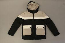 ZAFUL Men's Color Block Spliced Pocket Hooded Padded Coat SV3 Black Size XS