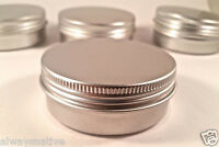 16 pcs Cosmetic Cream Make Up Lip Jar Tin Container Screw 60ml/2oz storage screw