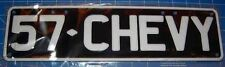 57 CHEVY B/W SLIMLINE NOVELTY NUMBER PLATE