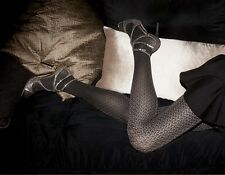 Gold Shimmer M/L Herringbone Gray Opaque Sparkle Tights HUE Tights