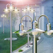 Lampione 3 Lanterne Acciaio Inox Design Illuminazione Esterno Giardino IP44