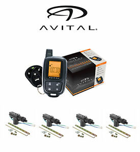 Avital 2-Way LCD Security System 1500 FT Range 2 Remotes + 4 DoorLocks 3305L