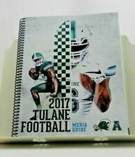 TULANE 2017 TULANE GREEN WAVE COLLEGE FOOTBALL MEDIA GUIDE Rare (SM013)