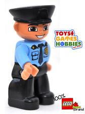 *NEW* LEGO DUPLO Police Officer - Man Station Cop Rescue Car Hat Badge Criminal