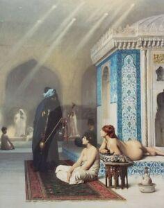 JEAN LEON GEROME Pool - Harem Pool - STATE HERMITAGE,  ST. PETERSBURG Art Print