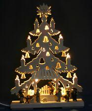 LED 3D-Schwibbogen Tanne Krippenspiel Krippe Tannebaum Christi Geburt Erzgebirge