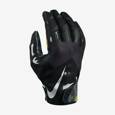 Nike Vapor Fly Football Skill Gloves Hyperfuse Black/Volt GF0106 001 Adult Sz L