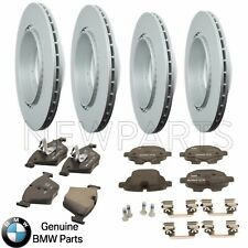 For BMW F07 F10 Front and Rear Vented Disc Brake Rotors With Pads Kit Genuine