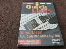 Lick Library: Guitar Quick Licks Shred Metal Style: Synyster Gates Key: Dm DVD
