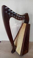 More details for brand new 9 strings rosewood irish harp, free carrying case & tunning key