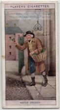 London Street Peddler Selling Water Cress Herb Medicine 100+ Y/0 Trade Ad Card