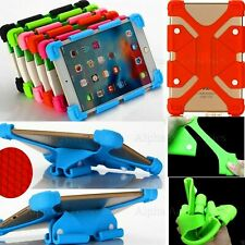 "Universal Silicone Case For Various 7"" Inch Tablets Gel Rubber Cover Stand - UK"