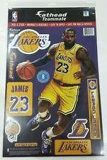 """LEBRON JAMES LOS ANGELES LAKERS 10.5""""X16.5"""" 8 PIECE FATHEAD WALL GRAPHIC DECALS"""