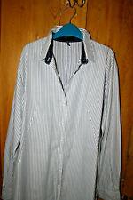 Stunning JIL SANDER striped blue & white 'inside out' shirt dress EU36 UK 8 - 10