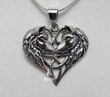 Collar de plata esterlina Lobo Corazón Pendientes producto con licencia por Lisa Parker