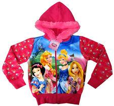 DISNEY PRINCESS Snow White Rapunzel Cinderella girls sweatshirt jacket M 8-9y