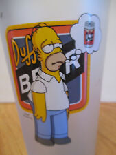 """2002 FOX The SIMPSONS Duff Beer UK Frosted Glass 6"""" HOMER SIMPSON"""
