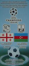 Programm UEFA CL 2012/13 FC Zestafoni (Georgia) - FC Neftchi (Azerbaijan)