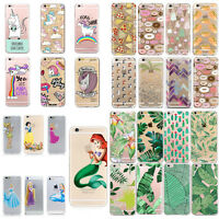 Cute UNICORN Transparent Slim TPU Back Case Cover For iPhone SE 5 5s 6s 7 7 PLUS