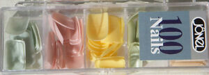 100 Jonel Artifical Nails in 5 Shades of PASTELS  NEW~