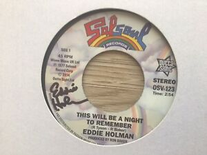Signed Copy - Eddie Holmam - This Will Be A Night To Remember