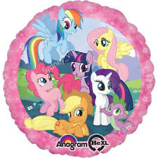 MY LITTLE PONY BIRTHDAY PARTY FOIL BALLOON 45CM GROUP HELIUM QUALITY GIRLS PINK