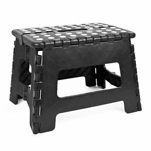 Folding Step Stool 22cm Multi Purpose Plastic Home Kitchen Foldable Easy Storage