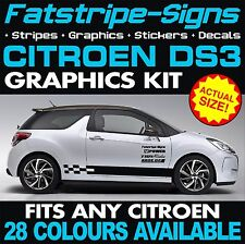 CITROEN DS3 Graphics Vinile Decalcomanie Adesivi Auto Strisce 1.4 1.6 VTI HDI