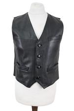 Black Leather Waistcoat Chest size