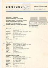 Telefunken Service Schaltplan-Lagepläne digitale 700/750 stereo   B1331