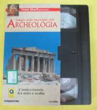 VHS film L'ANTICA GRECIA FRA MITO E REALTA'viaggio archeologia RAI (F107)no dvd