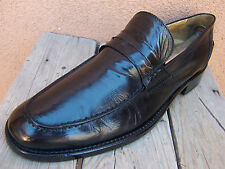 BARNEYS NEW YORK Mens Black Dress Shoes Casual Comfort Penny LoaferS Size 10.5M