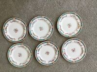 """6 Antique Royal Doulton  6-1/4"""" BREAD/DESSERT PLATES c1902-1922"""