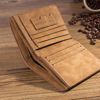 Fashion Men's Leather Bifold ID Card Holder Purse Wallet Billfold Handbag Slim