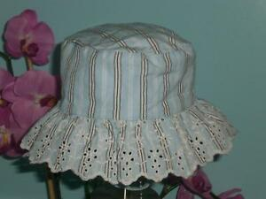 Gap Embroidered Eyelet Floral SunHat Up to 3 Months NWT